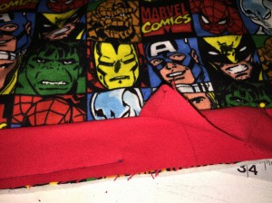Captain America Quilt Binding 6