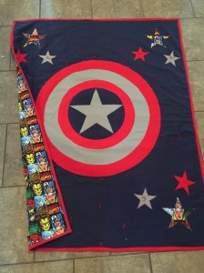 Captain America Quilt DONE with back