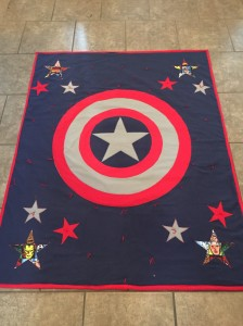Captain America Quilt Done2