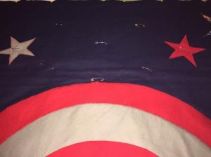 Captain America Quilt Ties