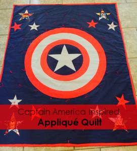 Pinterest Captain America Inspired Applique Quilt