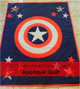 Pinterest Captain America Inspired Applique Quilt