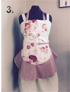 3 Red Floral Waverly and Stripes Apron