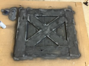 Barn Door Baby Gate black spray paint