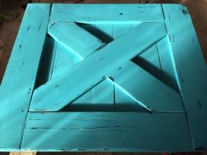 Barn Door Baby Gate Distress Jewel Shabby Paint