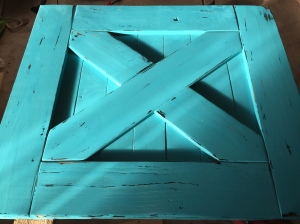 Barn Door Baby Gate Distress Jewel Shabby Paint