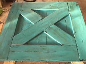 Barn Door Baby Gate Distressed with Shabby Paint Hazelnut reVax