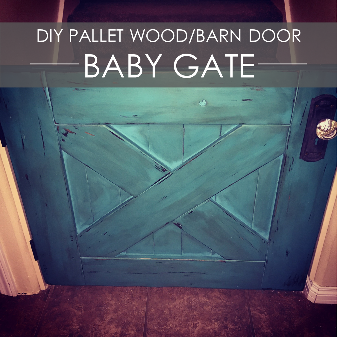 Diy Reclaimed Wood Barn Door Baby Gate Rockin The Dots