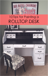 10 Tips for Painting a Rolltop Desk DIY1