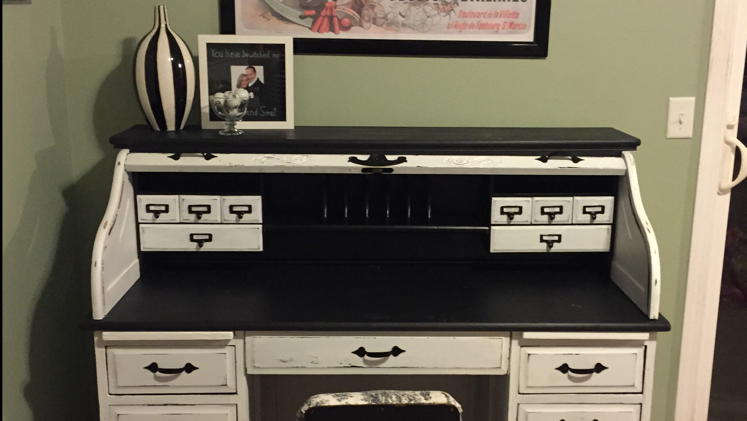 10 Tips For Painting A Rolltop Desk Rockin The Dots