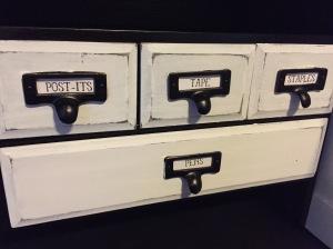 Rolltop Desk drawers closeup