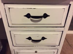 Rolltop Desk front desk drawer details