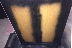 Rolltop Desk Spray paint edges