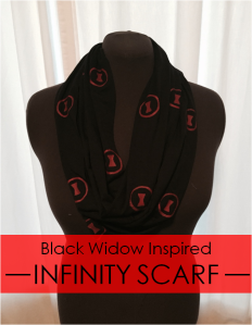 Black Widow Infinity Scarf DIY