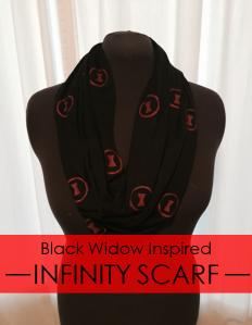 Black Widow Infinity Scarf DIY