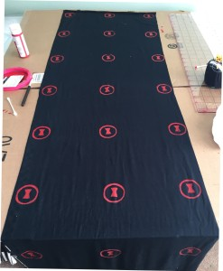 Black Widow Scarf Screen Printing