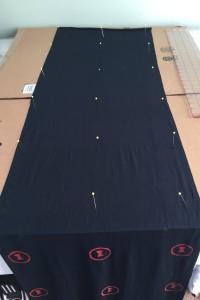 Black Widow Scarf Screen printing in progress