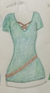Merida Disneybounding Sketch