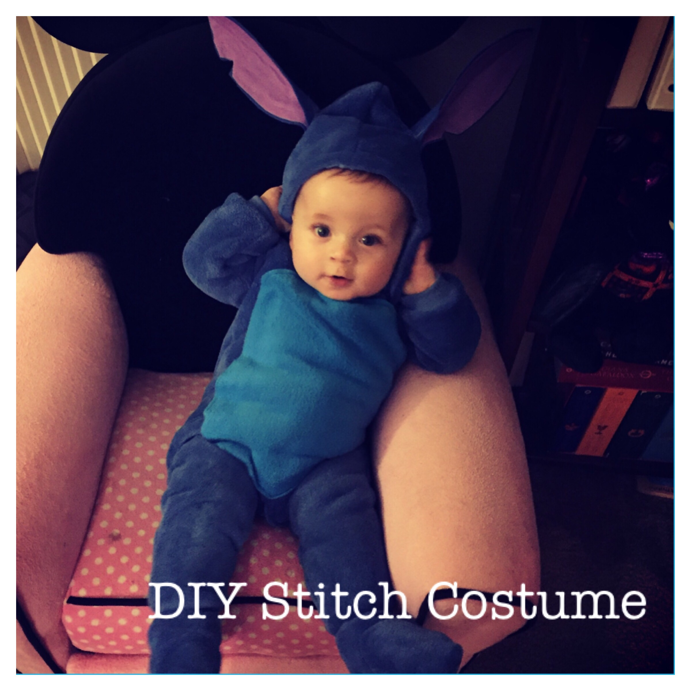 Diy Infant Stitch Costume In Less Than 1 Hour Rockin The Dots
